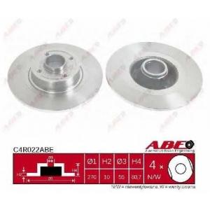 ABE C4R022ABE Тормозной диск Рено Сценик