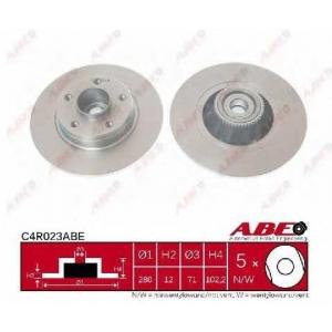 ABE C4R023ABE Тормозной диск Опель Виваро