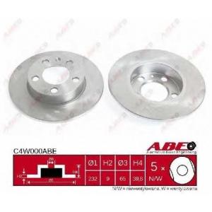 ABE C4W000ABE Тормозной диск Ауди Тт