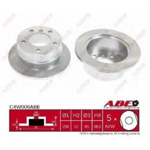 ABE C4W006ABE Тормозной диск Мерседес Спринтер 4Т