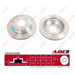 ABE C4W016ABE Тормозной диск Ауди Кью 7