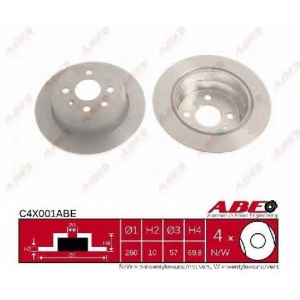 ABE C4X001ABE Тормозной диск Опель Астра