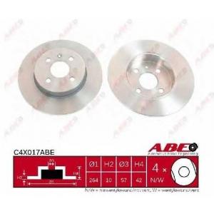 ABE C4X017ABE Тормозной диск Опель Комбо