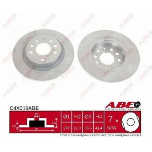 ABE C4X019ABE Тормозной диск Фиат Хрома