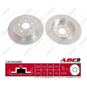 ABE C4Y000ABE Тормозной диск Додж Стратус
