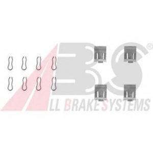 A.B.S. 1055Q Комплектующие, колодки дискового тормоза Фиат Фиорино