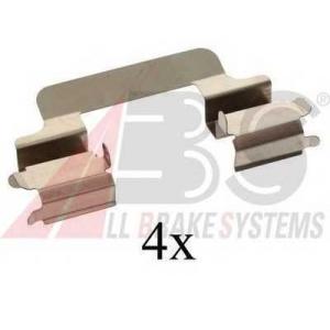 A.B.S. 1231Q Комплектующие, колодки дискового тормоза Мерседес Цлц-Класс