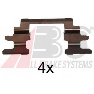 A.B.S. 1236Q Комплектующие, колодки дискового тормоза Митсубиси Лансер Спортбек