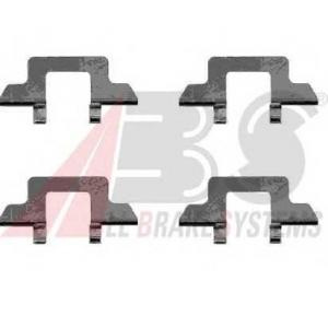 A.B.S. 1242Q Комплектующие, колодки дискового тормоза Ситроен С2