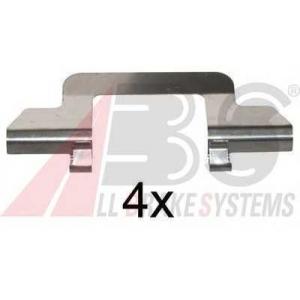 A.B.S. 1243Q Комплектующие, колодки дискового тормоза Ситроен С3 Плюриель