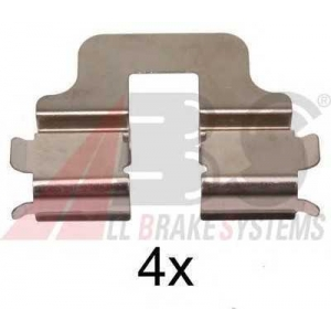 A.B.S. 1247Q Комплектующие, колодки дискового тормоза Мерседес Ванео