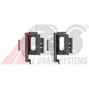 A.B.S. 1282Q Комплектующие, колодки дискового тормоза Мерседес В Класс