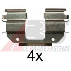 A.B.S. 1285Q Комплектующие, колодки дискового тормоза Дэу Матиз