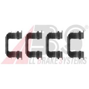 A.B.S. 1287Q Комплектующие, колодки дискового тормоза Шевроле Авео