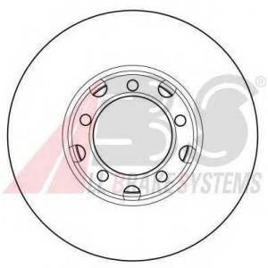 A.B.S. 15741 Тормозной диск Мерседес