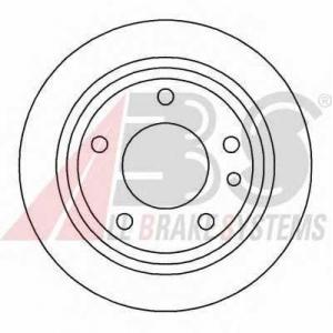 A.B.S. 15742 Тормозной диск Бмв 6