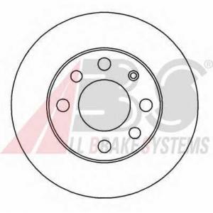 A.B.S. 15751 Диск тормозной OPEL CORSA/KADETT/ASTRA передн. (пр-во ABS)