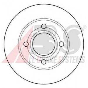 A.B.S. 15765 Тормозной диск Ауди 90