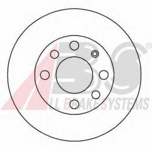 A.B.S. 15770 Диск тормозной DAEWOO LANOS/AVEO R13 передн. вент. (пр-во ABS)