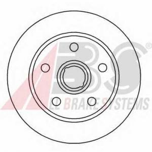 ABS 15826 Тормозной диск