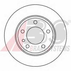 A.B.S. 15873 Тормозной диск Бмв 7