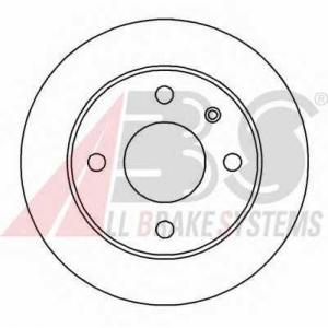 A.B.S. 15981 Диск тормозной FORD ESCORT/FIESTA передн. вент. (пр-во ABS)
