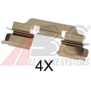 A.B.S. 1601Q Комплектующие, колодки дискового тормоза Мерседес Ванео