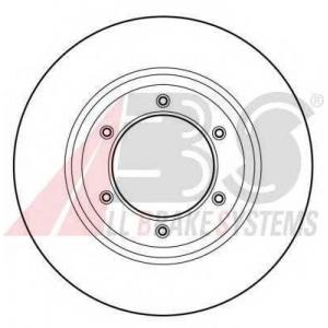 A.B.S. 16045 Тормозной диск Исузу Миди