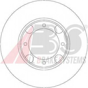 A.B.S. 16047 Тормозной диск Хюндай Акцент