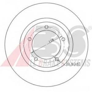 A.B.S. 16049 Тормозной диск Дайхатсу