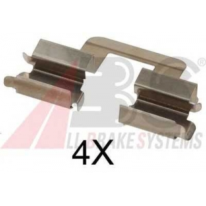 ABS 1606Q Комплектующие, колодки дискового тормоза