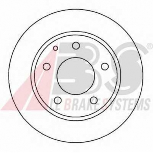 ABS 16090 Тормозной диск