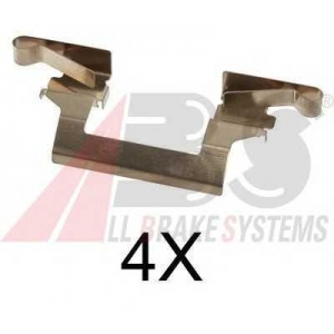 A.B.S. 1614Q Комплектующие, колодки дискового тормоза Инфинити Кью-Икс 4