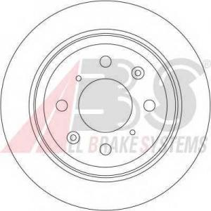 A.B.S. 16192 Тормозной диск Хонда Джаз
