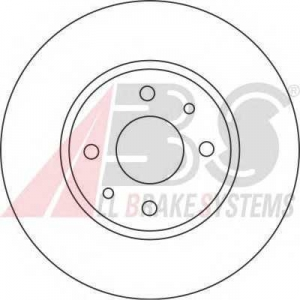 A.B.S. 16422 Тормозной диск Фиат
