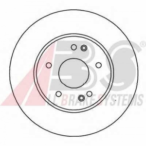 A.B.S. 16448 Диск тормозной MB C250-C280/E200-E300 передн. вент. (пр-во ABS)