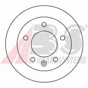 A.B.S. 16453 Диск тормозной MB/VW SPRINTER/LT передн. вент. (пр-во ABS)