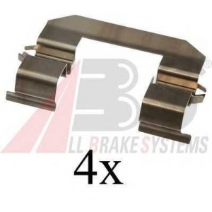 A.B.S. 1645Q Комплектующие, колодки дискового тормоза Хюндай Н1