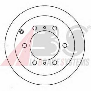A.B.S. 16471 Тормозной диск Митсубиси Л 400