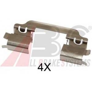 A.B.S. 1649Q Комплектующие, колодки дискового тормоза Хюндай Айикс 20