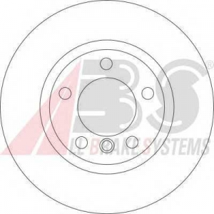 A.B.S. 16536 Тормозной диск Бмв З3