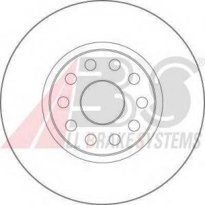 A.B.S. 16581 Тормозной диск Лансия