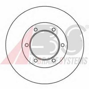 ABS 16656 Тормозной диск
