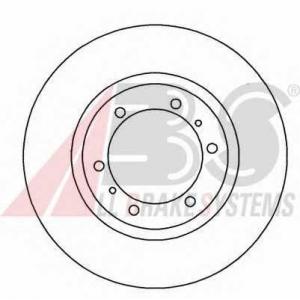 A.B.S. 16671 Тормозной диск Митсубиси Л 400