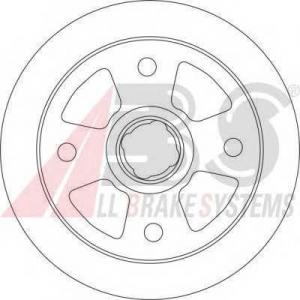 ABS 16675 Brake disc