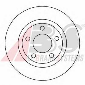 A.B.S. 16877 Диск тормозной AUDI/VW A4/A8/PASSAT передн. вент. (пр-во ABS)