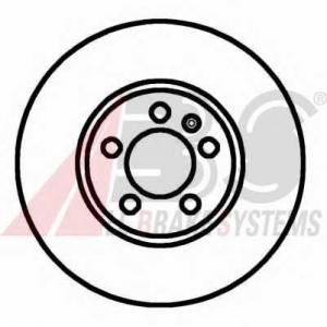 A.B.S. 16881 Диск тормозной AUDI/SEAT/SKODA/VW A3/LEON/OCTAVIA/BORA передн. вент. (пр-во ABS)