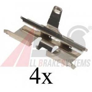 A.B.S. 1692Q Комплектующие, колодки дискового тормоза Дэу Лацетти