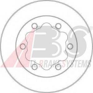 Тормозной диск 16950 abs - MERCEDES-BENZ SPRINTER 3-t c бортовой платформой/ходовая часть (903) c бортовой платформой/ходовая часть 314