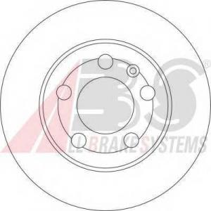 A.B.S. 17009 Тормозной диск Ауди Тт